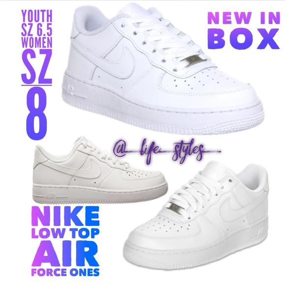 6353e382f5c5 Nike Air Force One s GS Youth Sz 6.5 Women s Sz 8